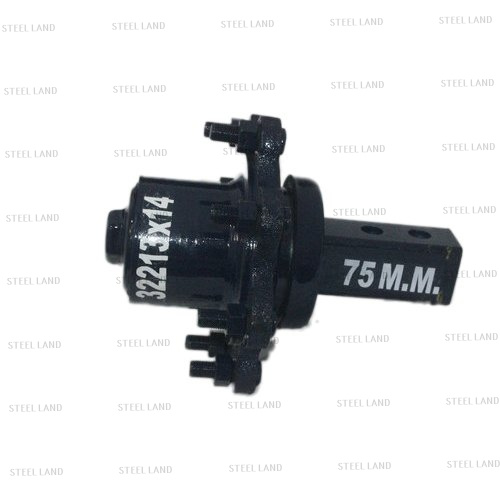 75 mm black tractor trolley axle